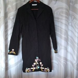 Black embroidered jacket